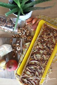 Tarte poire noix roquefort rect