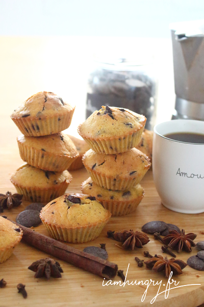 Muffins courge et chocolat