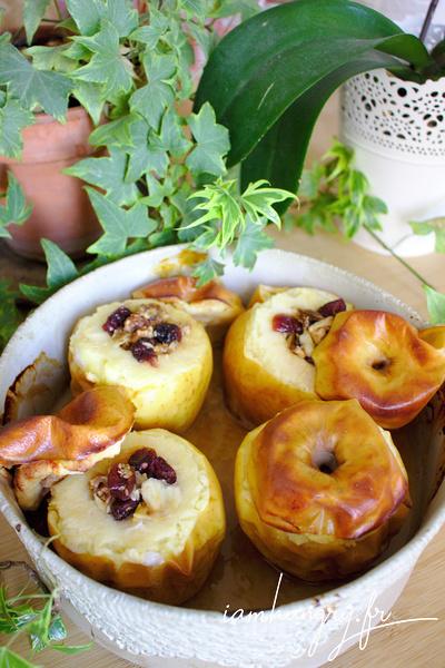 Pommes au four aux canneberges