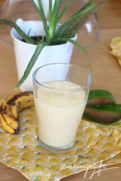 Smoothie citron agave banane