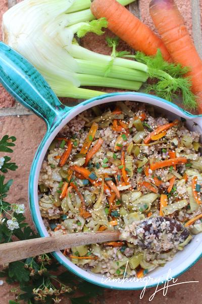 Salade de boulgour aux légumes rotis