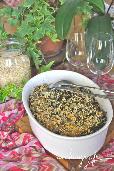 Gratin de riz aux blettes et persil