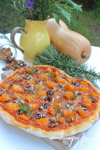 Pizza courge noix rect