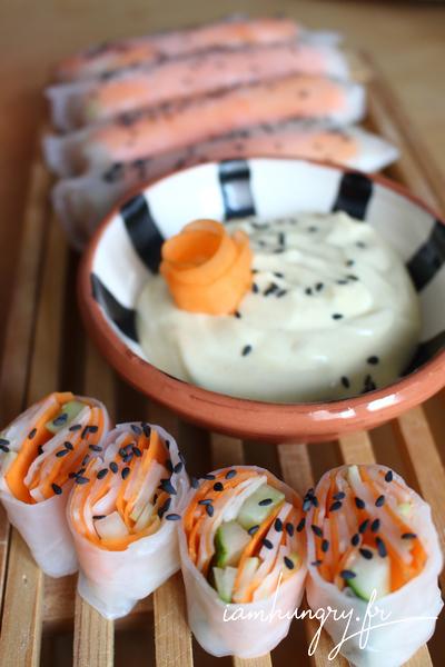 Rouleaux de printemps façon coleslaw