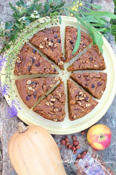 Gâteau courge pommes et noisettes