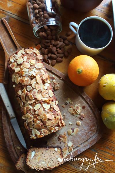 Cake au coings et écorces d'oranges confites