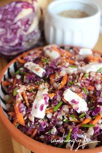 Salade choux rouge sarrasin feta rect