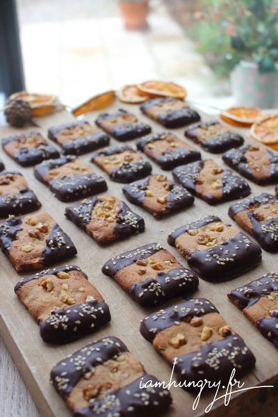 Bredele au pain d'épices et chocolat