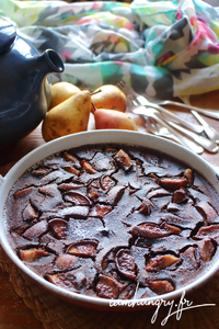 Clafouti poires cacao rect