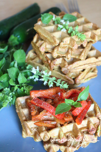 Gaufre courgette curry rect