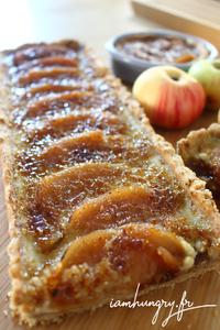 Tarte aux pommes creme brulee rect